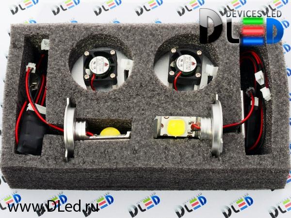Светодиодная автомобильная лампа с цоколем H4 1 светодиод HP 22W.